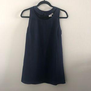 UO Navy Blue Peter Pan Collar Shift Dress